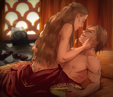 Commission - Jaime and Cersei by Afterlaughs