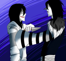 Laughing Jack and Jeff The Killer by TealTerror
