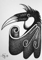 Sketchbook 12 Hornbill by Jose-Garel-Alvoeiro