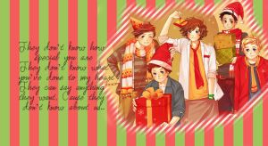 Wallpaper One Direction Christmas by SuperstarElevate