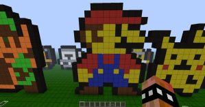 Minecraft Pixel Retro Mario by REV3LATIONS