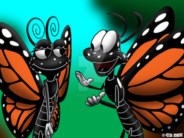 Monty and Mary, the Monarch Butterflies by JIMENOPOLIX