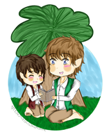 Frodo and Bilbo (commission) by ThePastelHobbit