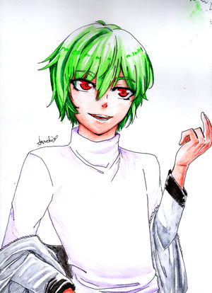 Tried watercoloring by ama-chii