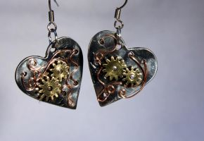 Steampunk earrings 6 by TheCraftsman