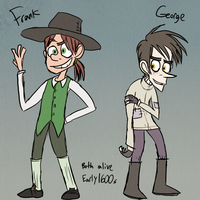 Frank and George (before things got bad) by Catmaniac8x