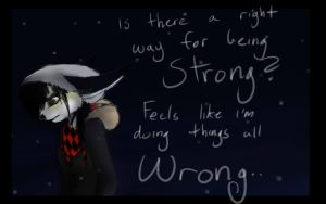 Is there a right way for being strong? (Sketch) by TTthemutt