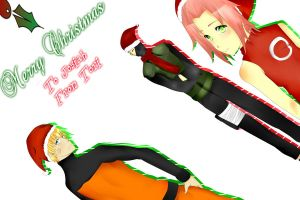 Naruto Christmas Card by Chileaf