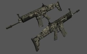 FN-Scar-L Textured 2 by eRe4s3r