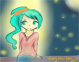 Happy New Years! Miku 2013: Brighten Up My Night by Sakurabliss7