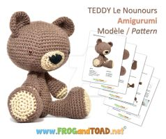 TEDDY Le Nounours Amigurumi Pattern by FROG-and-TOAD