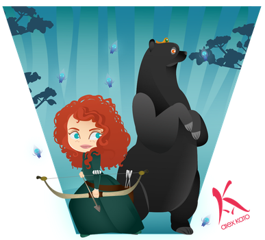Merida and Queen Elinor by AxKato