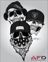 Tatt-design-peace-raiders-gris by Feeeley