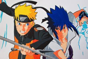 Rivalry - Naruto vs Sasuke! by SakakiTheMastermind