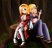 RO+FFXI: In the forest by Terrterr