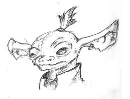 Goblinoid sketch by Utao