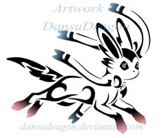 Tribal Sylveon Tattoo Commission by DansuDragon