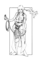 Human female with a whip by itSMEneon