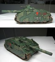 Finished assault gun by Durnstaros