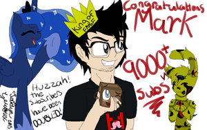 Congratulations for 90000 plus Subs Mark!!! by Jaidyn-FangTrap