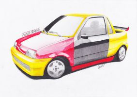 Fiat Cinquecento 'colourful' by AjoslaF
