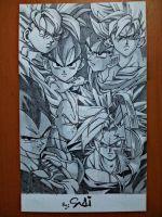 Dragon Ball Z Goku Gohan Bezita Trunks by SudiLin