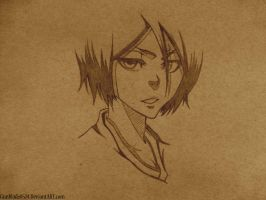 Rukia Sketch by MassoArt