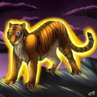Neon Tiger by DikkeBobby