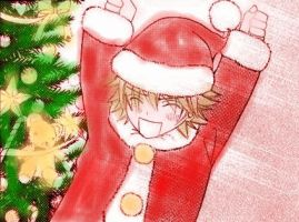 Misaki in Santa Claus suit by senseifan