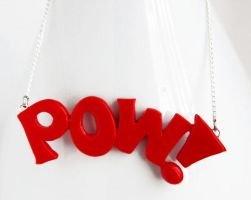 Comic Book POW Necklace by NeverlandJewelry