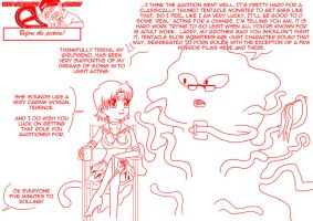 Sailor mercury and the tentacle monster by mattwilson83