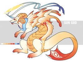 Sun God Dragon Adopt (CLOSED) by UndeadChickenNugget