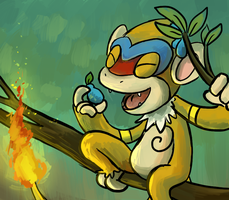 Pokestream- Monferno by pettyartist