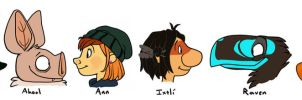 The Lessers lineup by the-fox-after-dark