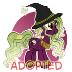 Witch Pony Halloween Auction [CLOSED] by Kazziepones