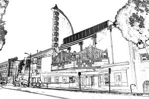 Fremont Theater - outline by iFix