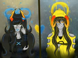 Blue and Yellow by MadamNyx