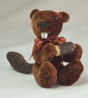 Benny the Beaver mini plush by The-GoblinQueen
