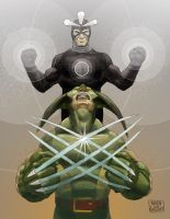 Havok and Wolverine: Meltdown by aaronjohngregory