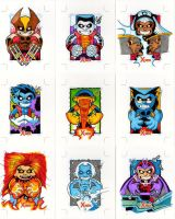 X-Men sketch cards 3 by Sonion