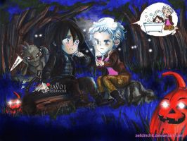 Daryl and  Carol (Caryl) a history at midnight by zelldinchit