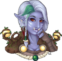 Zarese, Troll Druid by caitlincaitiecait