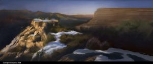 Digital Painting: Grand Canyon by southercomfort