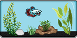 Ice and Red King PixelFish - Illuciac by thetauche