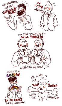 tintin valentines by murr-ma-ing