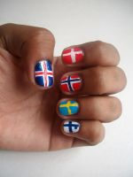 Nordic Flags. by Shi-Cake