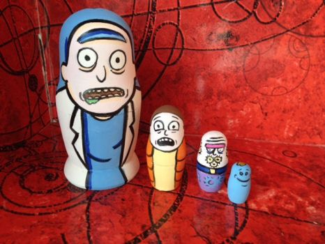 Rick and Morty nesting dolls by Gallery44