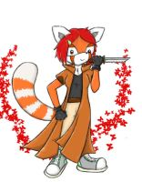 Amber the red panda by SuperferretIX