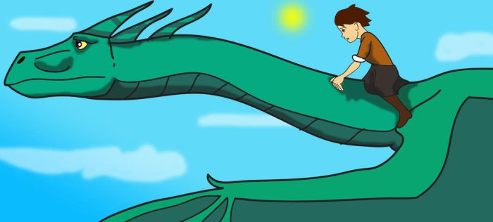 Jule and the dragon fly by TroytheDinosaur