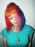 Colorfull - Rainbow Hair 2012 by cherrybomb-81
